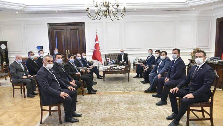 İçişleri Bakanı Soylu'yu ziyaret ettiler