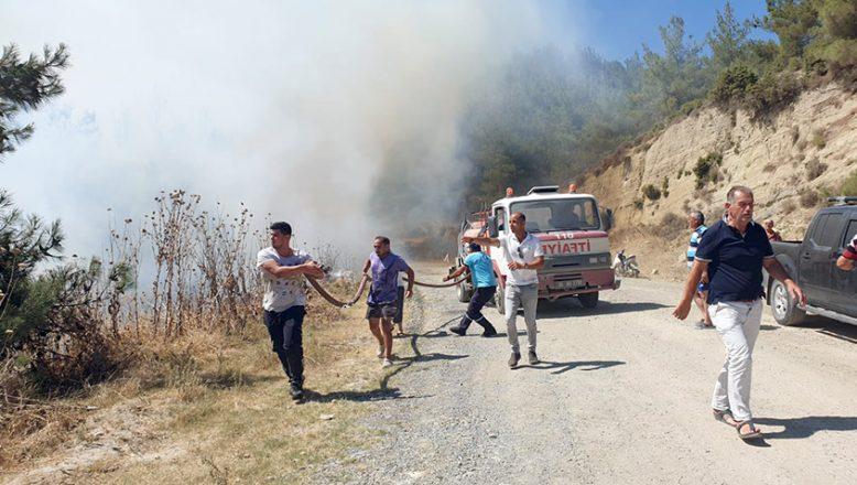 Eceabat'ta orman yangını başladı! Havadan ve karadan müdahale ediliyor…