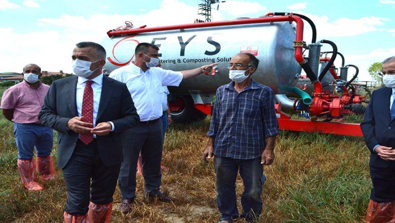 Hayvan çiftliklerindeki gübreler tarım arazilerinde kullanılacak