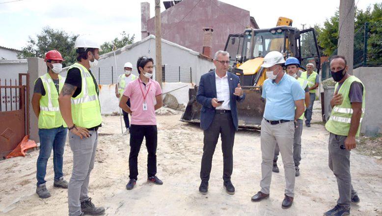 Belediye ve GAZDAŞ işbirliğinde  7 kilometrelik doğal gaz hattı yapılıyor