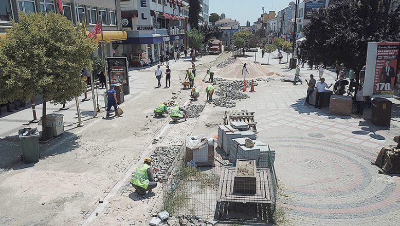Saraçlar Caddesi'nde altyapı tamamlandı