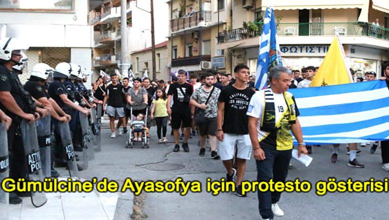 Gümülcine'de Ayasofya için protesto gösterisi