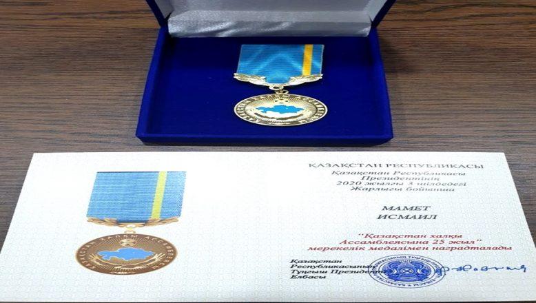 Kazakistan'dan madalya!