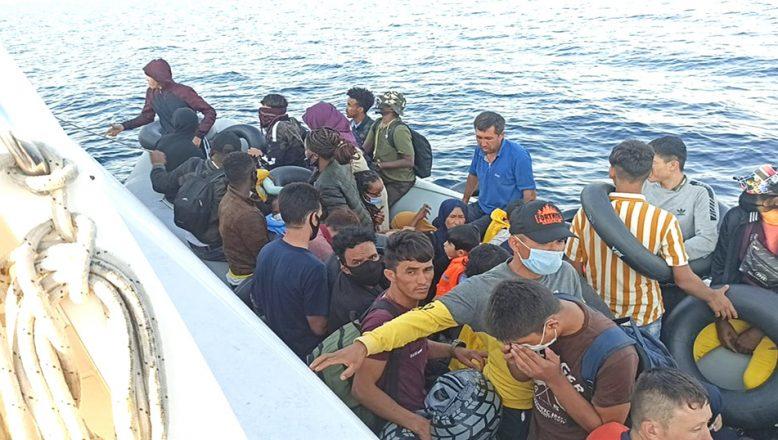 74 sığınmacı kurtarıldı