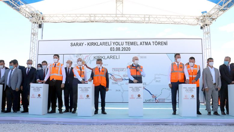 Bakan Karaismailoğlu, Saray- Kırklareli yolunun temelini attı