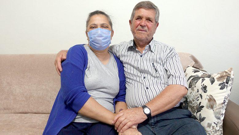 Babasının böbreği ile hayata tutundu