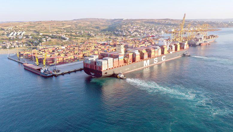 Dev konteyner gemisi MSC Maya Tekirdağ'da