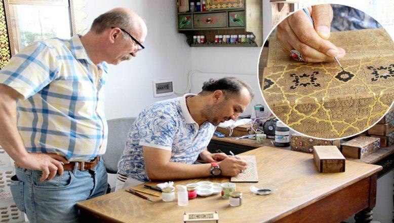 Osmanlı süsleme sanatını öğrenmek için İstanbul'dan Edirne'ye geliyor
