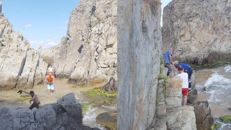 Kayalıklarda mahsur kalan kişiyi AFAD kurtarıldı