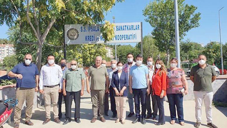 KEFEK Başkanı Aksal İpsala'da ziyaretlerde bulundu