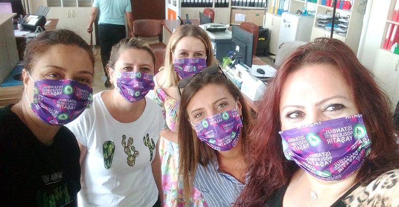 İstanbul Sözleşmesi'ne maskeli destek