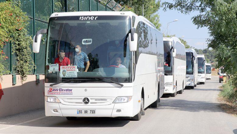 Samsun'da yakalanan 173 düzensiz göçmen Edirne'ye getirildi