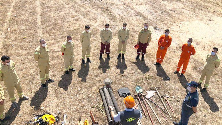 Orman yangını işçilerine işbaşı eğitimi düzenlendi