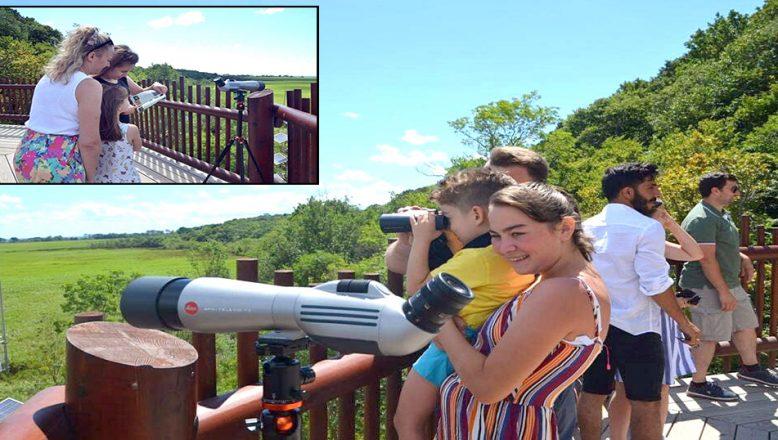Kuş Gözlem Kulesi, ziyaretçilerin ilgisini çekiyor