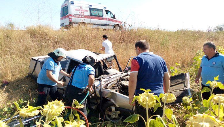 Trafik kazasında iki kişi yaralandı