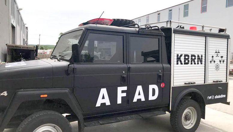 AFAD'a KBRN aracı