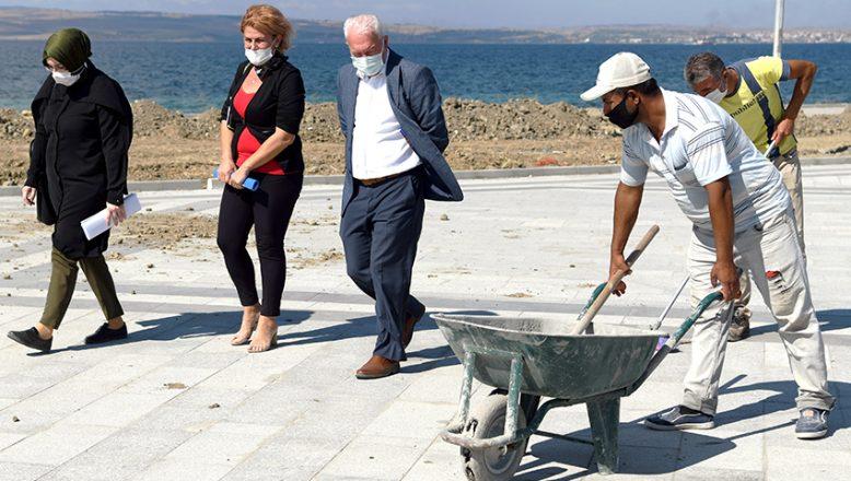 Sahil Projesi çalışmaları devam ediyor