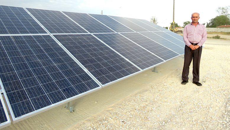 Ovacık'a, 80 güneş paneli