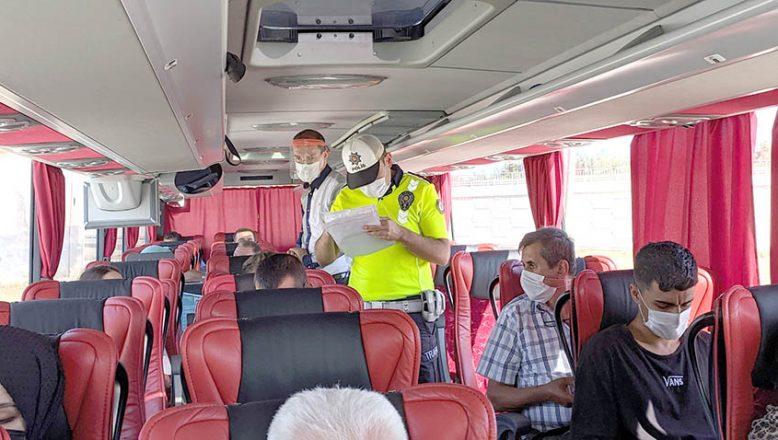 Otobüslerde HES kodu denetimi