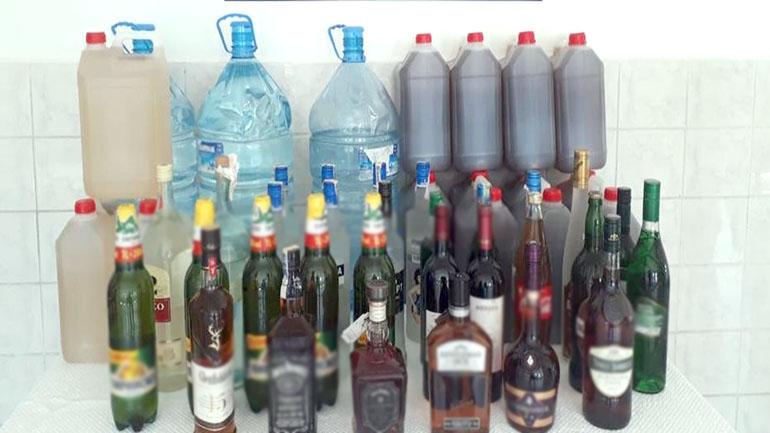 751 litre sahte ve kaçak içki ele geçirildi