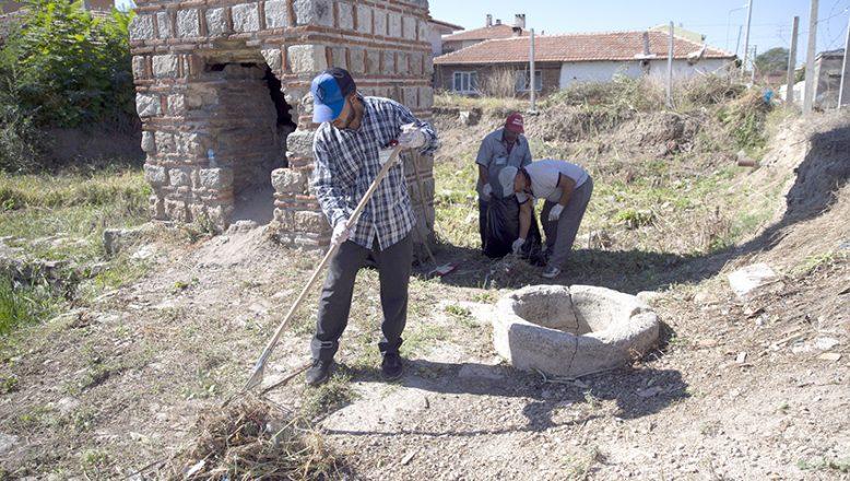 Tarihi alanlarda bakım ve temizlik çalışması yapıldı