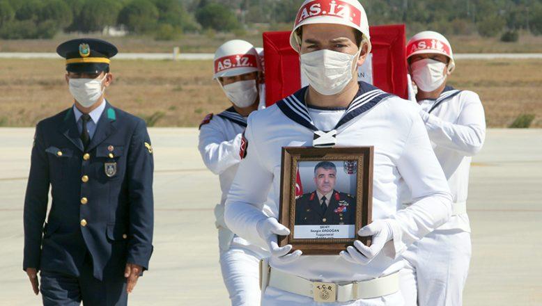 İdlib'de şehit olan Tuğgeneral Erdoğan'ın cenazesi Çanakkale'ye getirildi