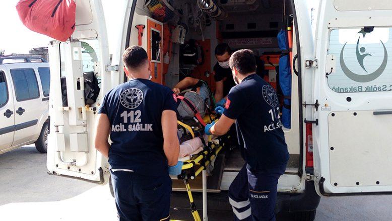 Yüksekten düşen işçi yaralandı