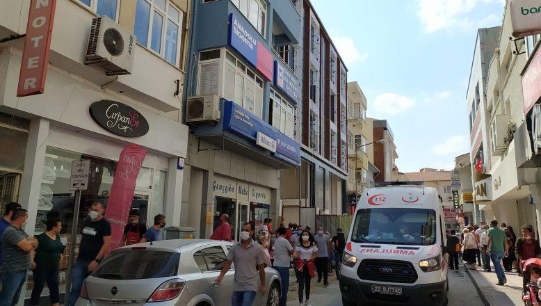 İkinci kattan düşen işçi ağır yaralandı
