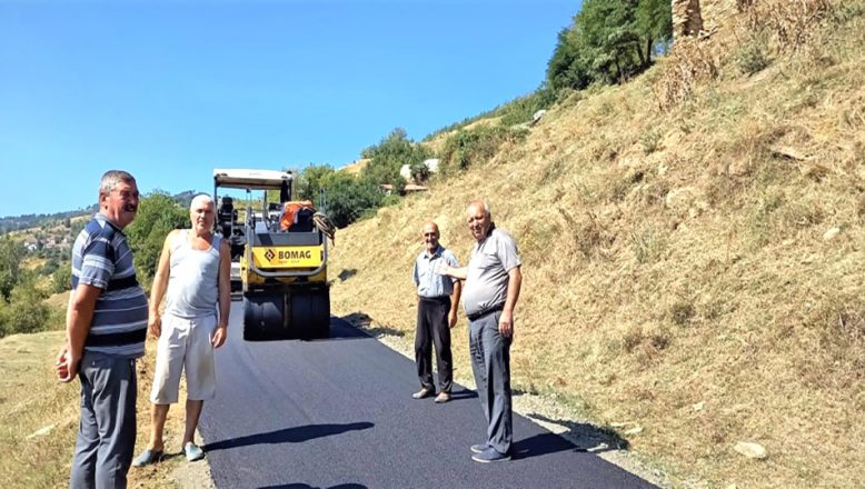 Ardino'da köy yollarına asfalt