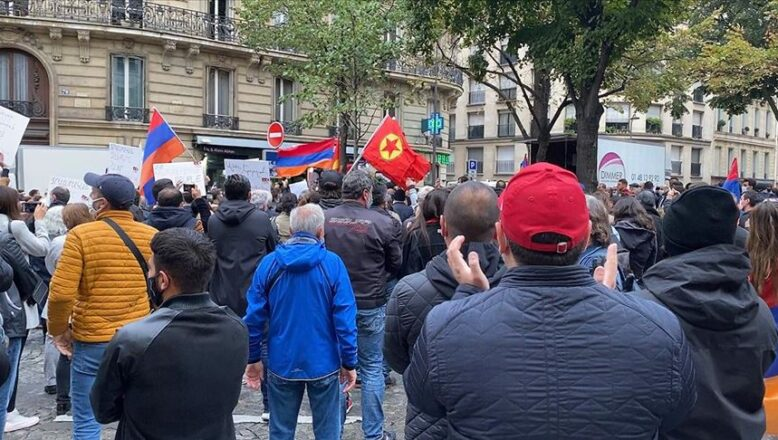 PKK'lılar ve Ermeniler, gösteri düzenledi