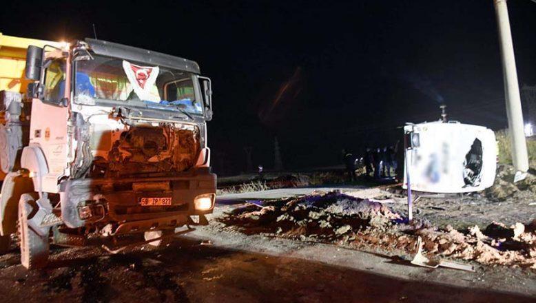 Feci kazada 1 kişi öldü, 14 kişi yaralandı