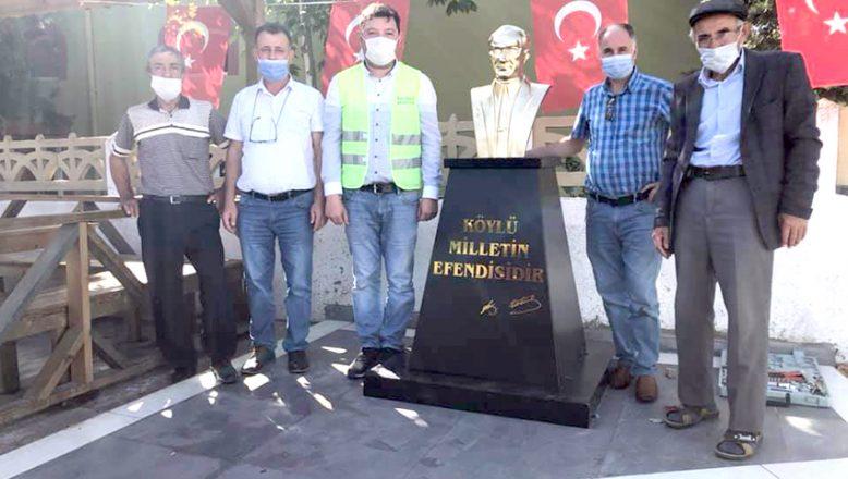 Tahrip edilen Atatürk büstü onarıldı