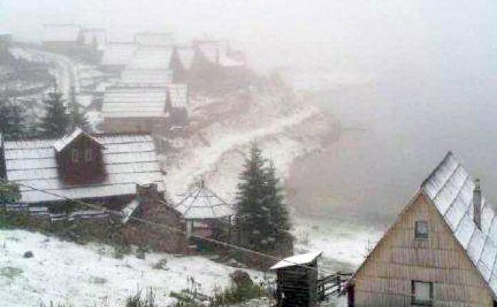 Bosna Hersek'te ilk kar