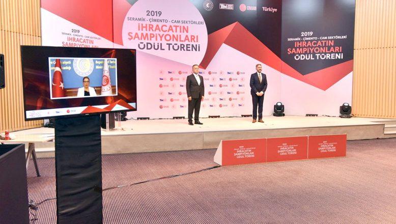 Seramik, Çimento ve Cam'da ihracat şampiyonları belli oldu