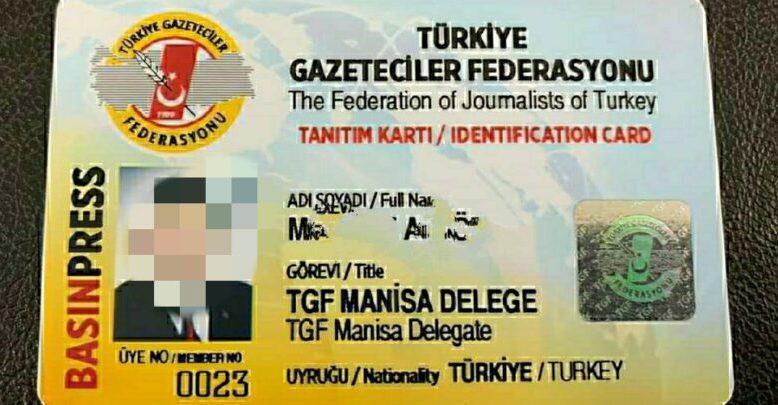 TGF'den sabıkalı sendikacıya Basın Tanıtım Kartı!