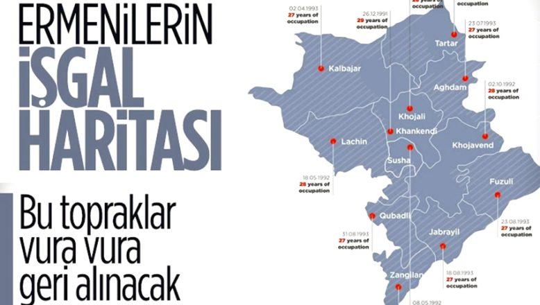 Ermenistan'ın işgal ettiği, Azerbaycan toprakları