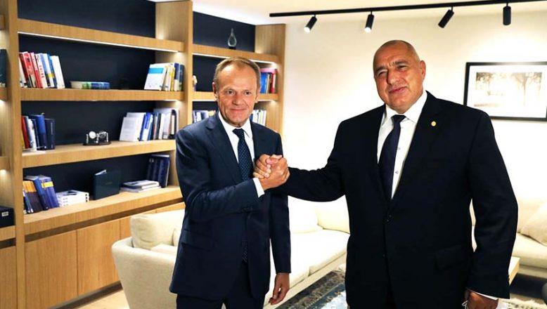 Tusk, Borisov'u desteklediğini açıkladı