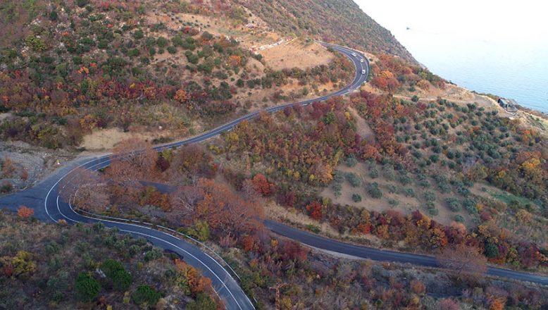 Ganos Ormanı sonbahara, renk cümbüşü ile veda ediyor