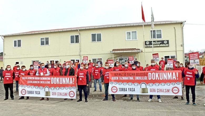 DİSK'ten 'torba yasa' tepkisi
