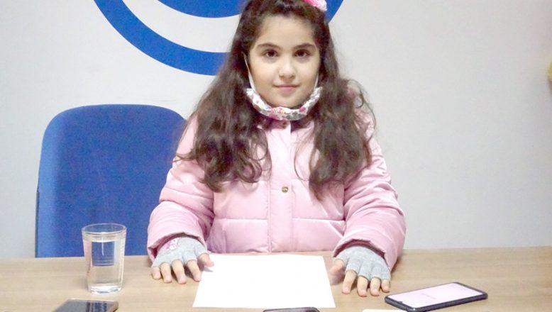 Elif'ten çocuk hakları mesajı