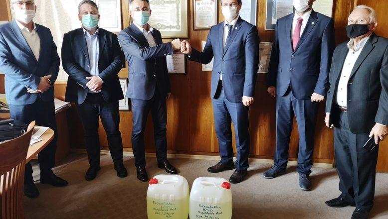 Edirne'den Kırcaali'ye dezenfektan bağışı
