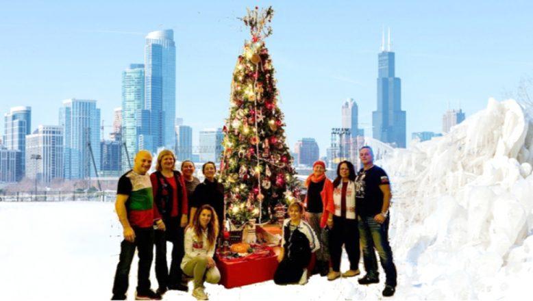 Chicago'da, Bulgar Noel ağacı dikkatleri üzerinde topluyor