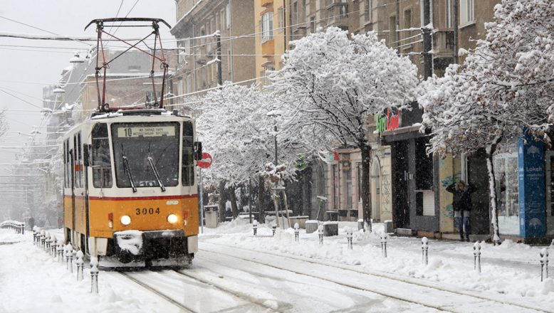 Sofya'da karlı sabah