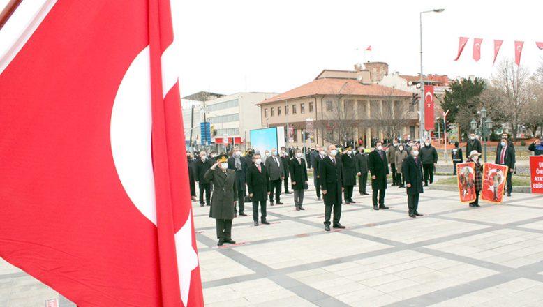 Atatürk'ün Edirne'ye gelişi kutlandı