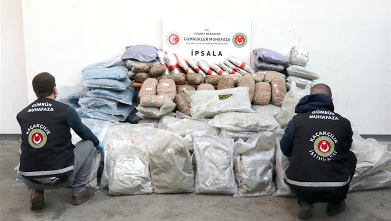 TIR'da 257 kilo esrar yakalandı