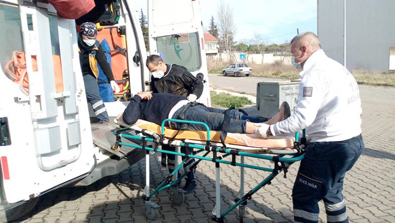 Traktör römorku hastanelik etti