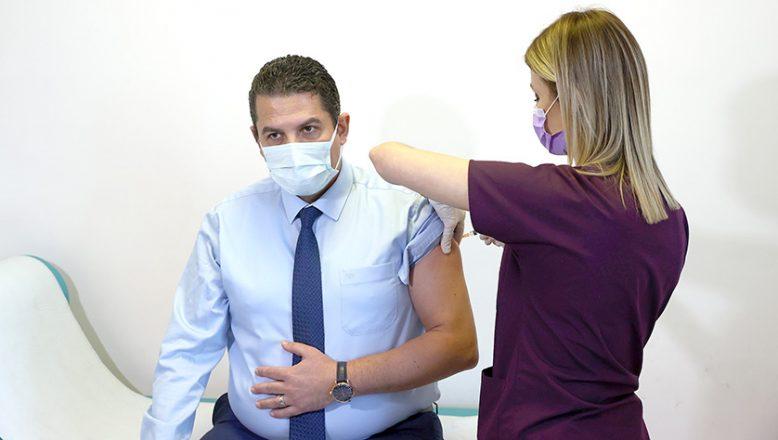 Edirne'de ilk koronavirüs aşısı yapıldı