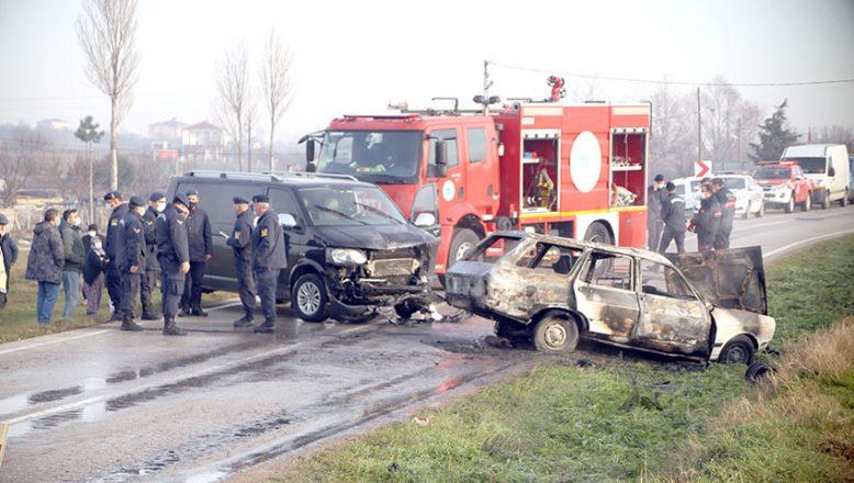 Feci kaza; 1 ölü, 3 yaralı