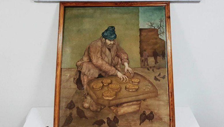 Tarihi tabloyu satmaya çalışırken yakalandı