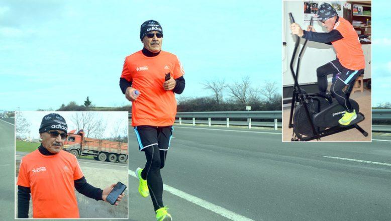 Maraton özlemini, 'sanal koşu' ile gideriyor
